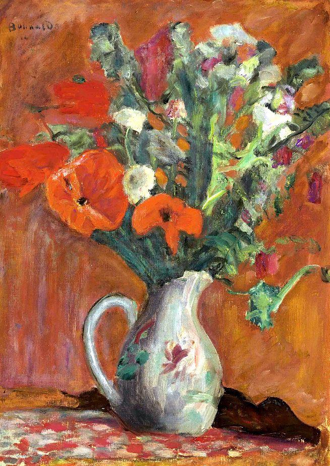 Pierre bonnard 1867 1947 vase de fleurs bo fransson for Bouquet de fleurs wine