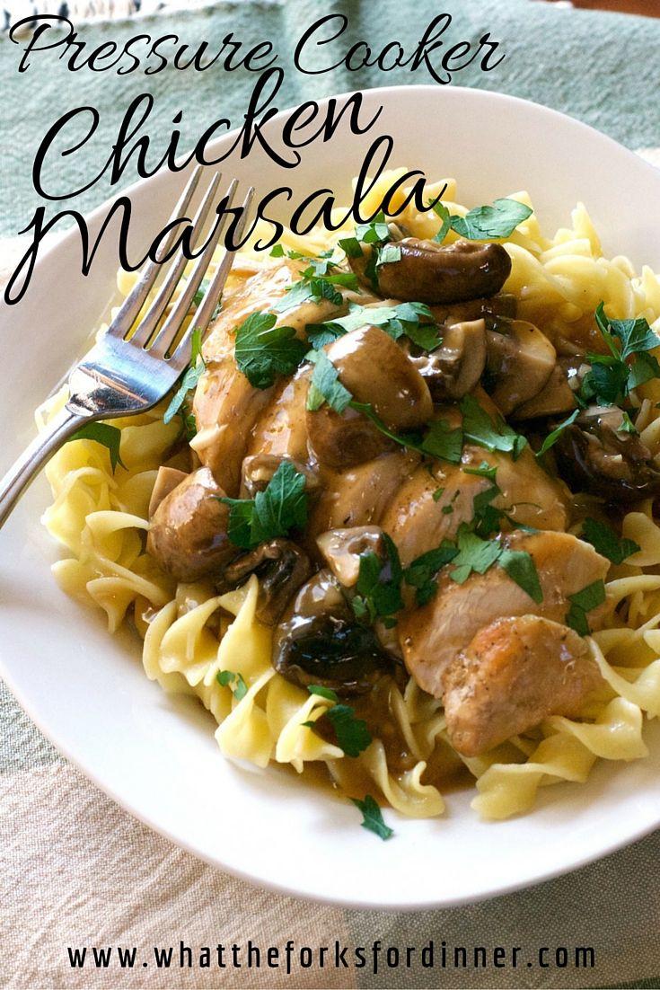 Pressure Cooker Chicken Marsala