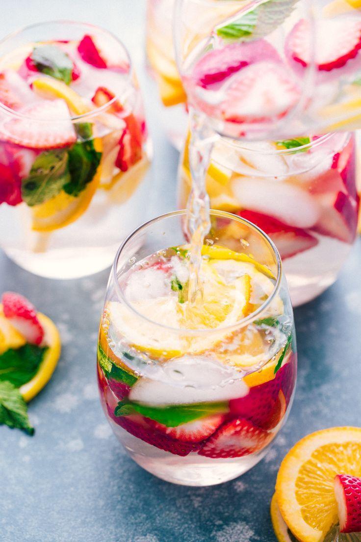 Lemon and strawberry detox water. - My Blog | Food
