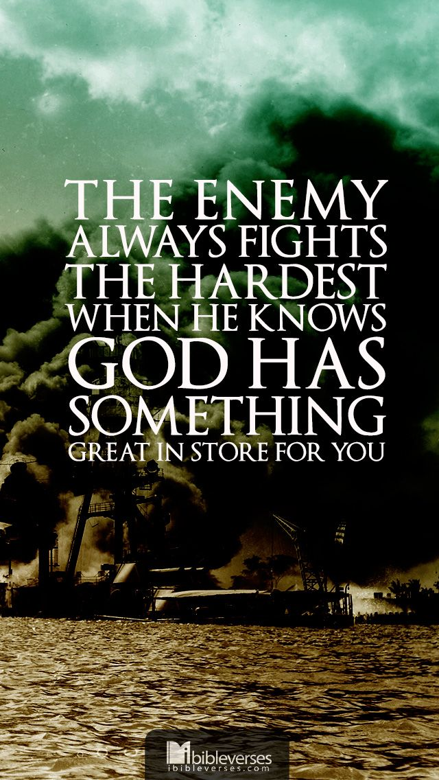 The enemy always fights the hardest when God he know God has something great in store for you. Jeremiah 29:11