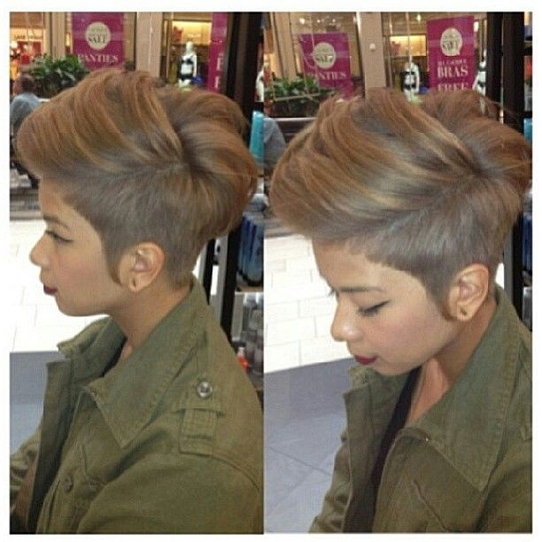 Aye! If i go short again I want this color and this cut. LOVE IT!!! Makes it so hard to grow out my relaxer when I see great looks like this one.