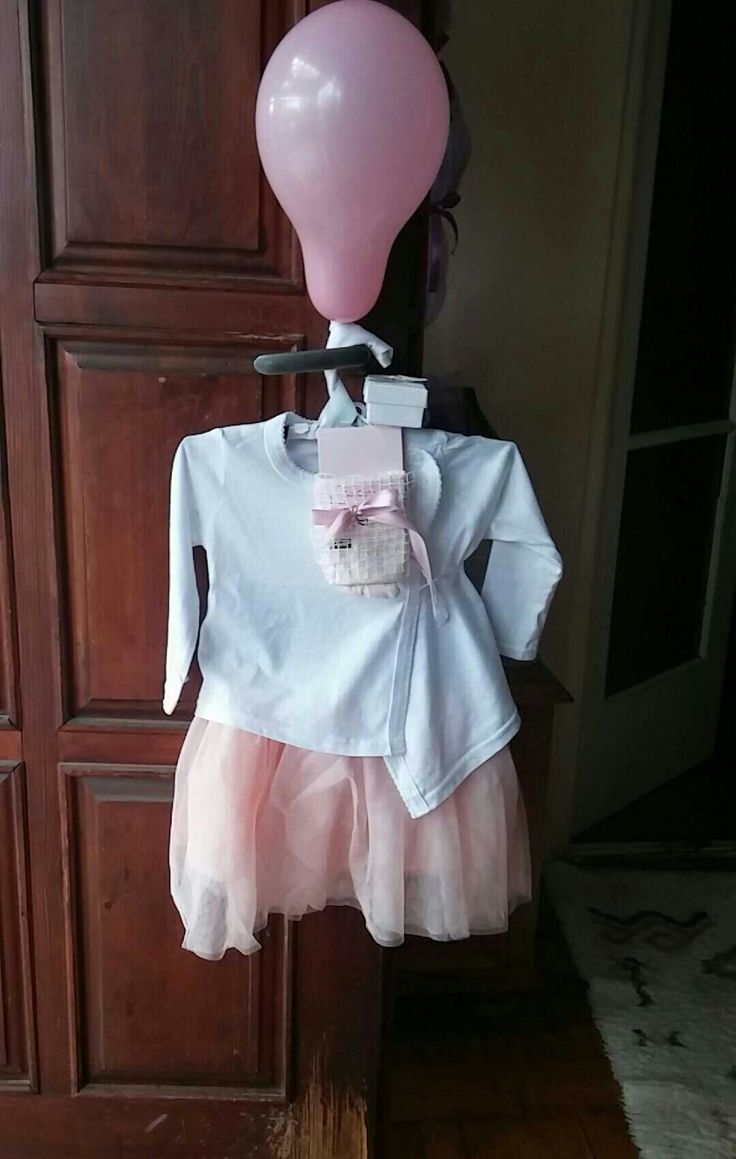 Baby visit dress gift for a baby girl diy