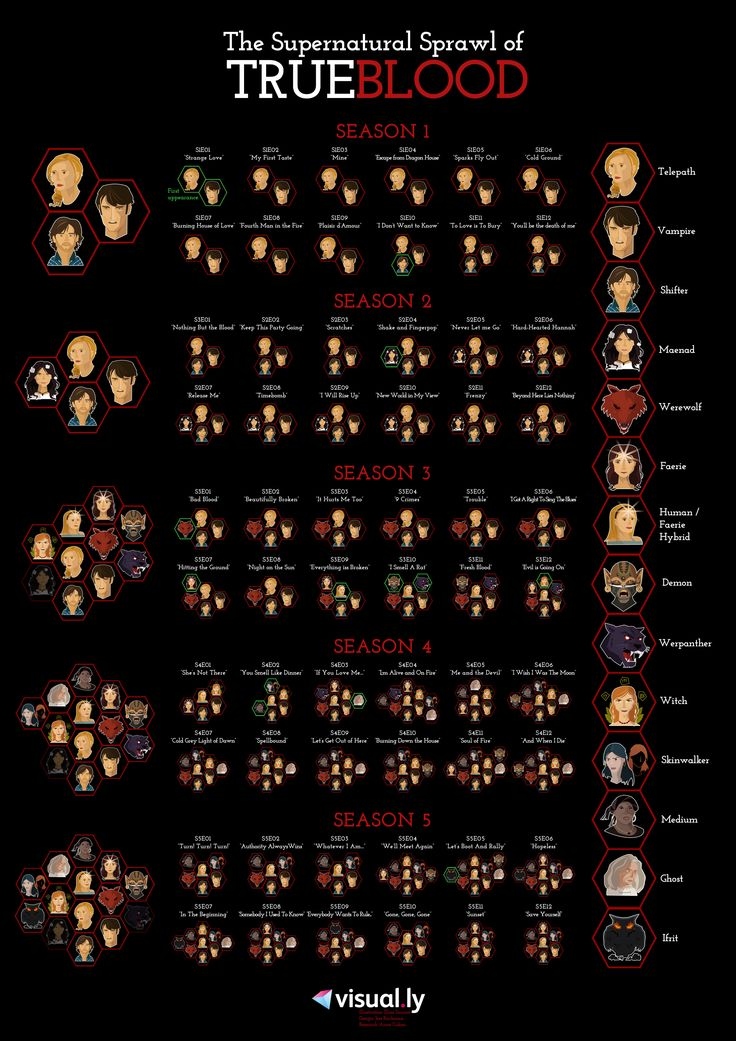 The supernatural sprawl of True Blood infographic