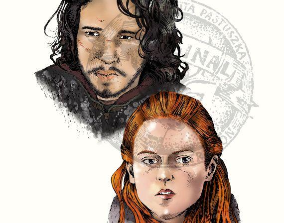 Jon Snow & Ygritte, Game of Thrones fan art