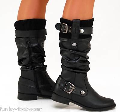 Love these Biker Boots. Tough with a feminine twist #boots #leather #black