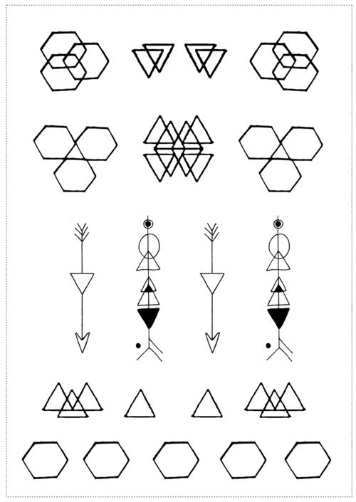 minimalist geometric tattoo - Google Search
