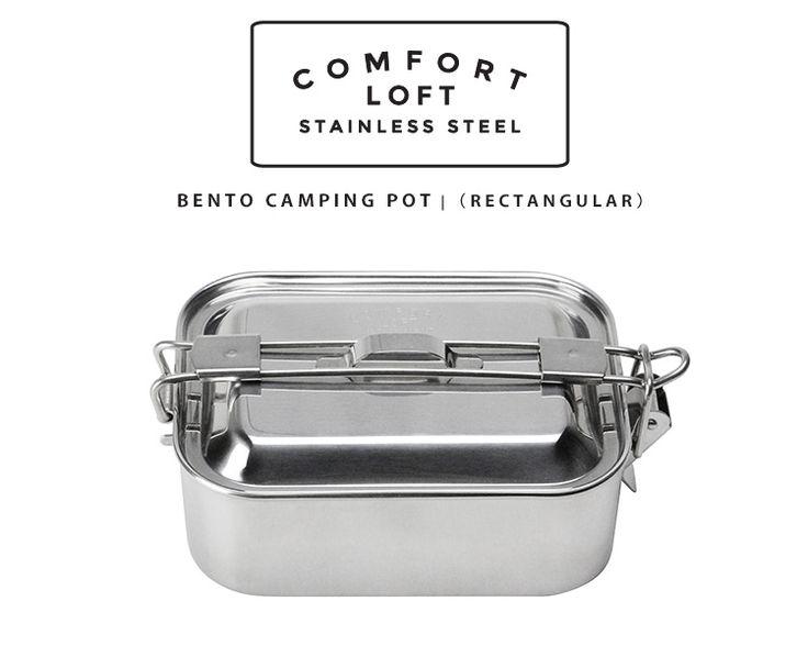 アウトドアクックウェア&普段使いのランチボックスの2way。保温性が良く冷めにくい!アウトドアクックウェアにも最適。留め具を伸ばすとまるで片手鍋の取っ手に。。Bento Camping Storage Pot /ベントウキャンピングストレージポット 【ポイント10倍/在庫有/あす楽】【RCP】【p0703】