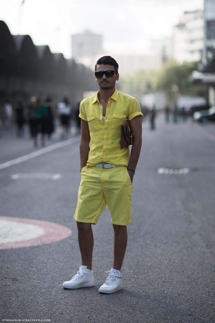 : Happy Yellow, Male Style, Mellow Yellow, Men Style, Menswear Editing, Men Apparel, Http Stockholm Streetstyl Com, Yellow Summer, Man Style