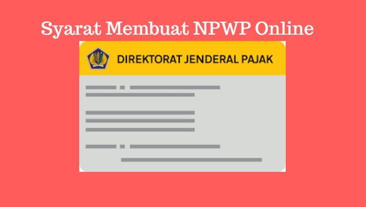 cara membuat NPWP bagi yang belum bekerja