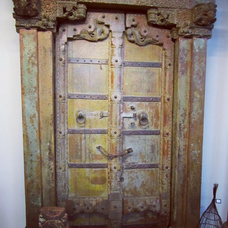 Antique door with beautiful patina