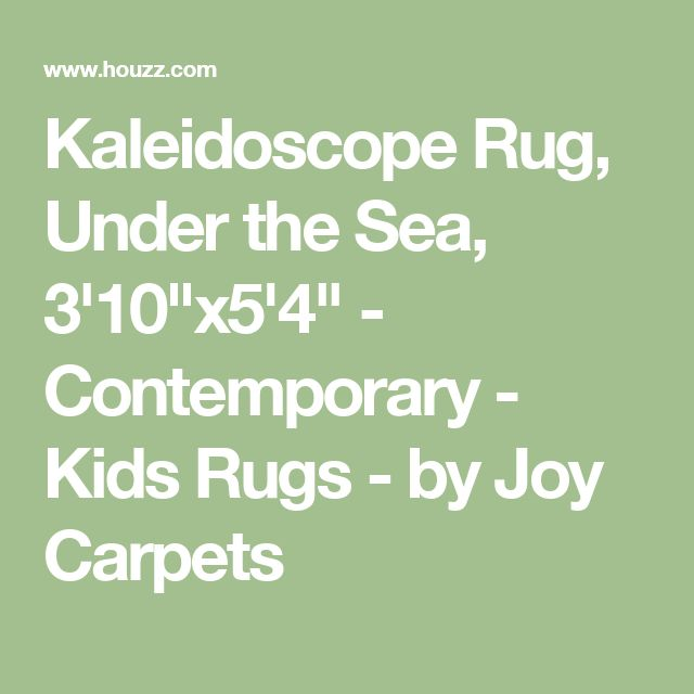 """Kaleidoscope Rug, Under the Sea, 3'10""""x5'4"""" - Contemporary - Kids Rugs - by Joy Carpets"""