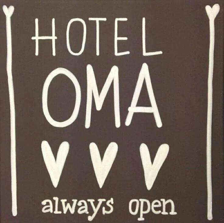 Hotel oma....always open