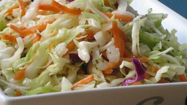 I live in a wonderful Amish community and the ladies here are wonderful cooks. This is a lovely cole slaw recipe for those who like slaw without mayonnaise. Ingredients 1 medium head cabbage, cored and shredded 1 medium onion, finely chopped 1 cup white sugar 1 cup vinegar 1 teaspoon salt