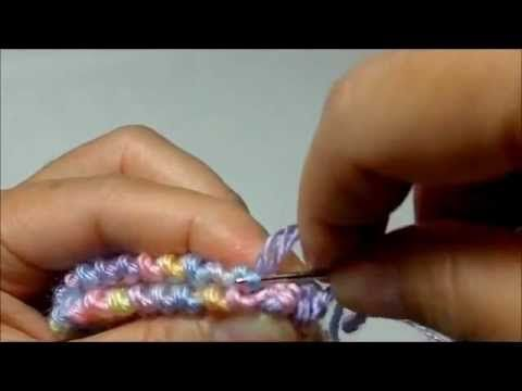 How to Sew Garter Stitches Baby Booties - YouTube
