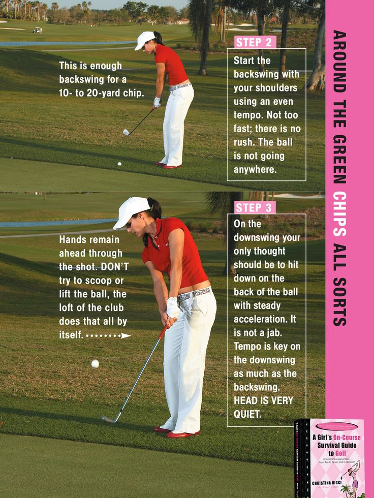 Hands to the hole with club head low s the secret to better chips. Many players halt their hands, which sends the ball flying.