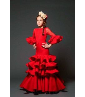 trajes de flamenca 2017 - Aires de Feria - Geranio niña rojo