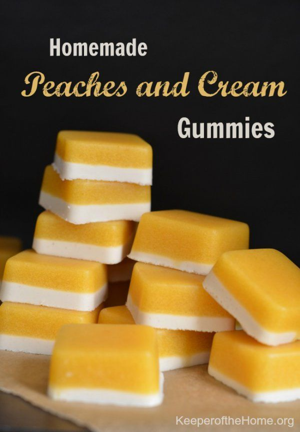Not only do homemade gummies taste good, they provide wonderful health benefits! They're free of all the sugars and additives store bought fruit snacks and candies have, plus homemade gummies include grass-fed gelatin – which is a great super food! These peaches and cream gummies are a hit with everyone.