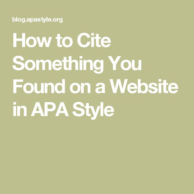 how to make website references in apa format