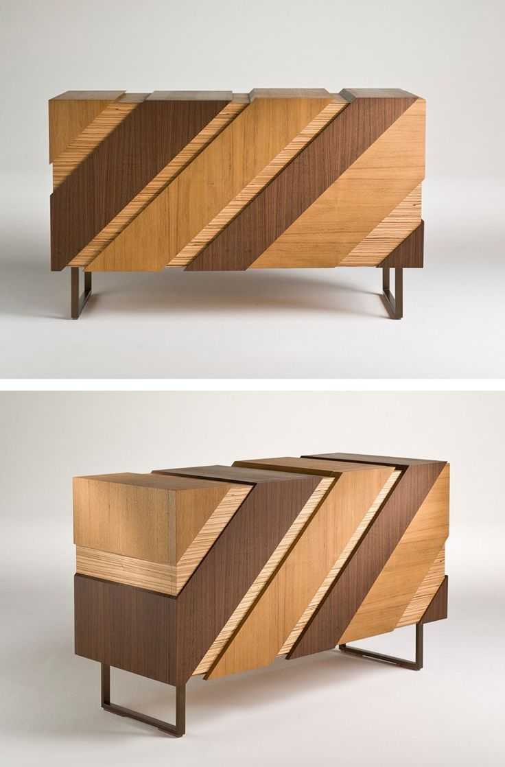 Wooden sideboard with doors SLIDE by i 4 Mariani