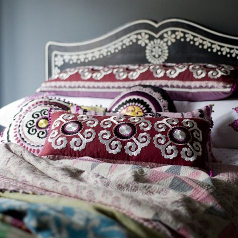Samarkand Suzani Cushion Cover  love niki jones