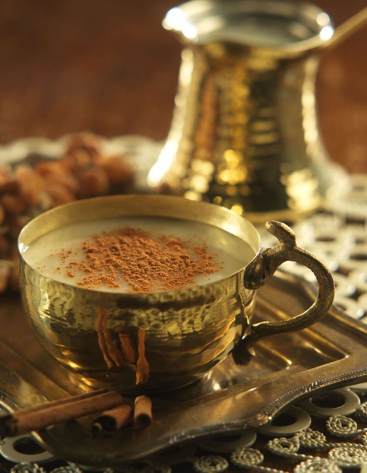 Sahlep - this mild beverage is turkish answer to hot chocolate. Originating during the Ottoman Empire, sahlep's key ingredient is crushed orchid, which is used to thicken warm milk before being sweetened with sugar and cinnamon. Salep :  1 teaspoon instant sahlep powder,   2 teaspoons of sugar,   1 pinch of cinnamon,   1 1/2 cups of milk,  1 pinch of cinnamon for dusting