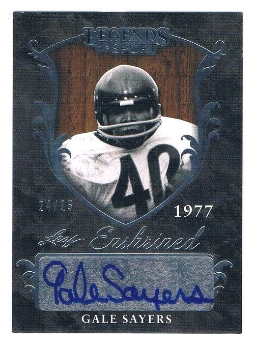 GALE SAYERS AUTO Autograph signed card #24/25 CHICAGO BEARS #ChicagoBears