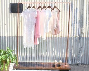 Kupfer-Rohr Kleiderstange / Bekleidungs-Rack / von LittleDeerEtsy
