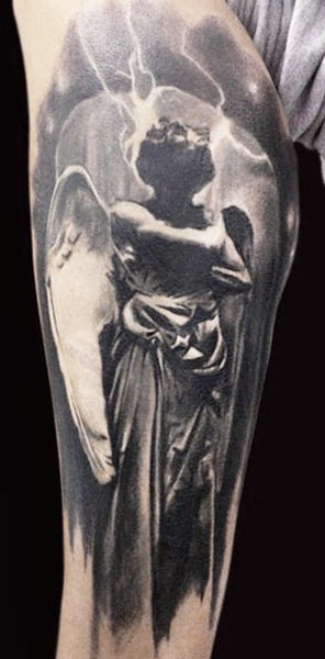 Tattoo Artist - Adam Kremer - statuary tattoo