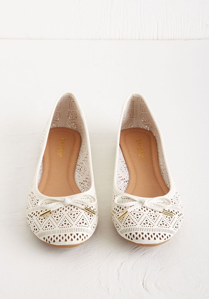 Wedding Shoes White Ballet Flats