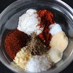 Famous Taco Seasoning Mix - This is my go-to instead of that envelope mix. I do one tablespoon regular chili powder, a half tablespoon ancho and a half tablespoon chipotle chili powders, for extra spice and depth.