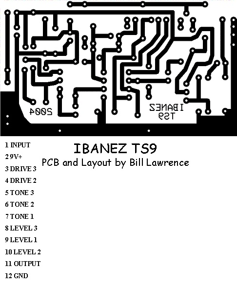 ibanez ts9 screamer pcb