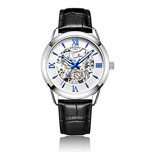 Rotary Men's Automatic Watch with Silver Dial Analogue Display and Black Leather Strap GS00651/21 - http://www.darrenblogs.com/2017/03/rotary-mens-automatic-watch-with-silver-dial-analogue-display-and-black-leather-strap-gs0065121/