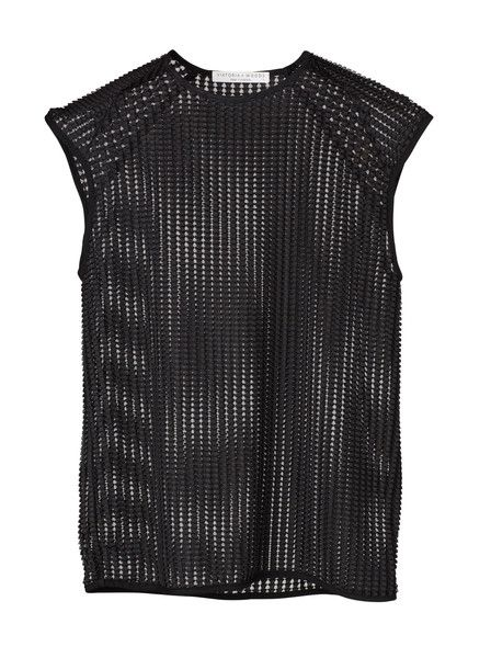 VIKTORIA & WOODS - Nikko Tee - Black - Textured Interlock Mesh  $169.90