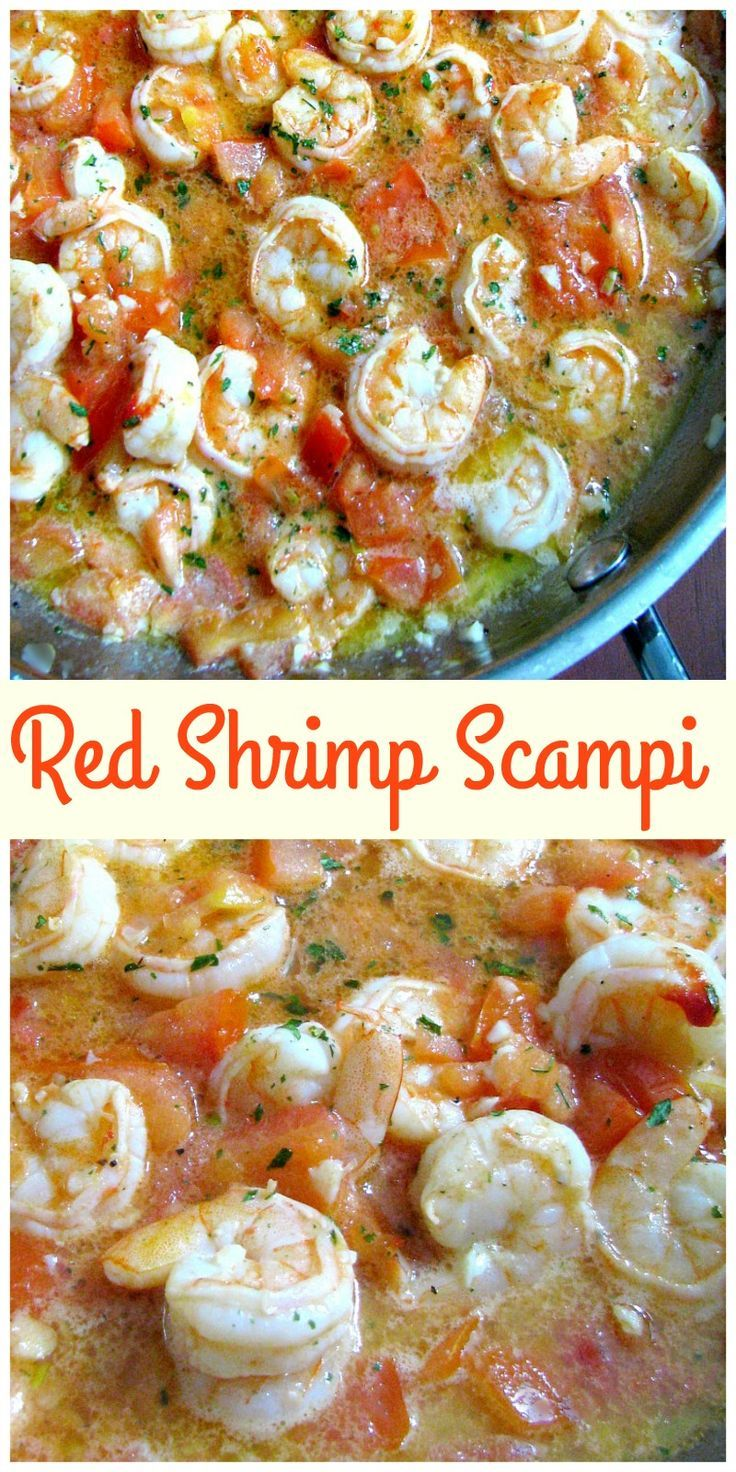 A delicious change from traditional shrimp scampi, Red Shrimp Scampi is made with lots of garlic, tomatoes, parsley, and black pepper in butter sauce. #ShrimpScampi#DinnerRecipes   #shrimp #garlic #tomatoes  via @My Crazy Kitchen
