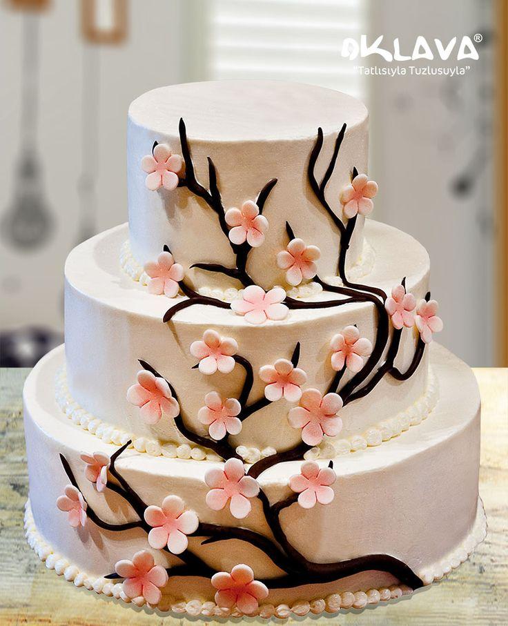 Sarmaşık Dallar Düğün Pastası