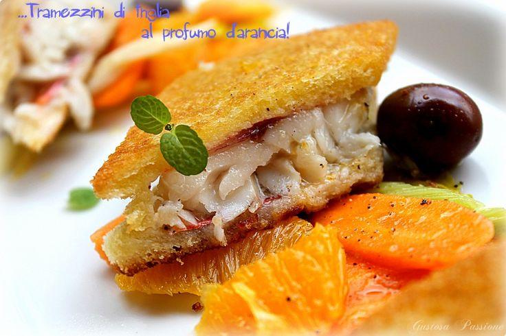 Tramezzini di triglia al profumo d'arancia http://blog.cookaround.com/gustosapassione/2015/04/tramezzini-di-triglia-al-profumo-darancia/