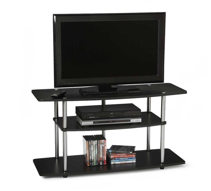The First Flat Screen TV Stand Comes From Bush Furniture. This Wood TV Stand  Measured In 24 Inch High, Inch Deep, And Inch Wide. This Discount TV
