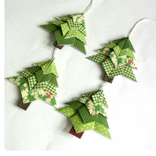 Origami Mini Christmas Tree (Set of 2) @ Rs. 149