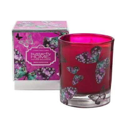 Butterfly Home by Matthew Williamson Designer pink mimosa scented candle- at Debenhams.com £12