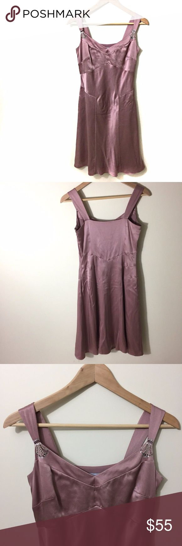 "LOFT Blush Rose Pink Silk Dress Size 2 LOFT dress with a satin finish, size 2.  Underarm to underarm 17"".  Waist 18.5"".  Length 37"".  100% silk with a polyester lining. LOFT Dresses"