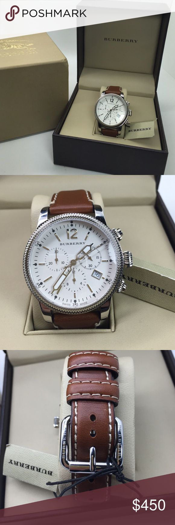 Burberry men watch. New. Never used. Burberry watch new. Brown leather strap. Never been used. Burberry Accessories Watches - mens discounted watches, mens watches online, mens black designer watches