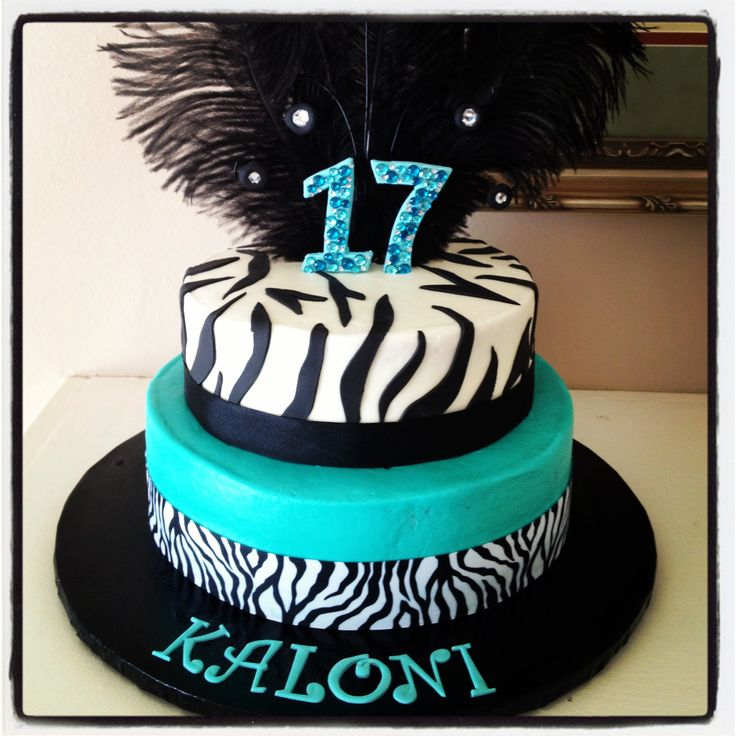 Zebra Birthday Cake For 17 Year Old My Creations 17