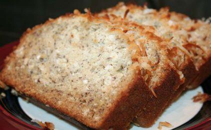 Ψωμί με μπανάνα και καρύδα για διαβητικούς