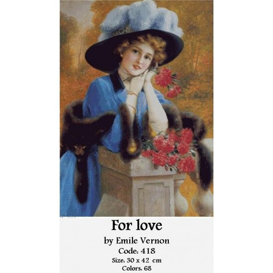CrossStitch Set For Love by Emile Vernon http://gobelins-tapestry.com/portraits/865-for-love-by-emile-vernon.html