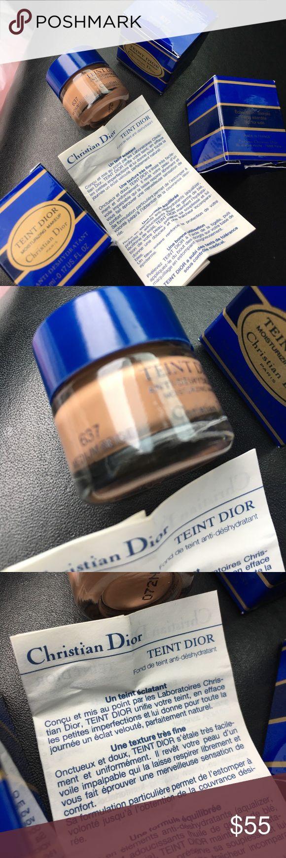 П��christian Dior Teint Dior Makeup #637💄 5 Total Sample Size Christian Dior  Foundations