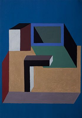 Nathalie du Pasquier is a founding member of The Memphis Group which was an influential Italian design and architecture group. In the period from 1981 – 1987, they designed Post Modern furniture, fabrics, ceramics, glass and metal objects. When they disbanded in 1987, she devoted herself almost exclusively to painting.