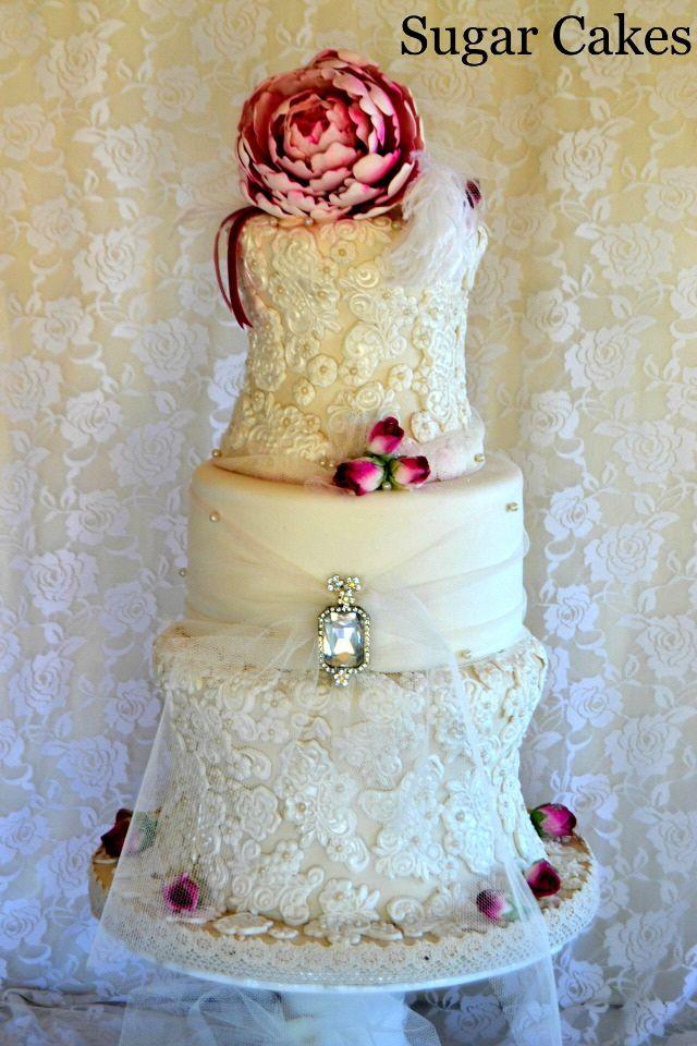 At Sugar Cakes - Lacy Wedding Cake