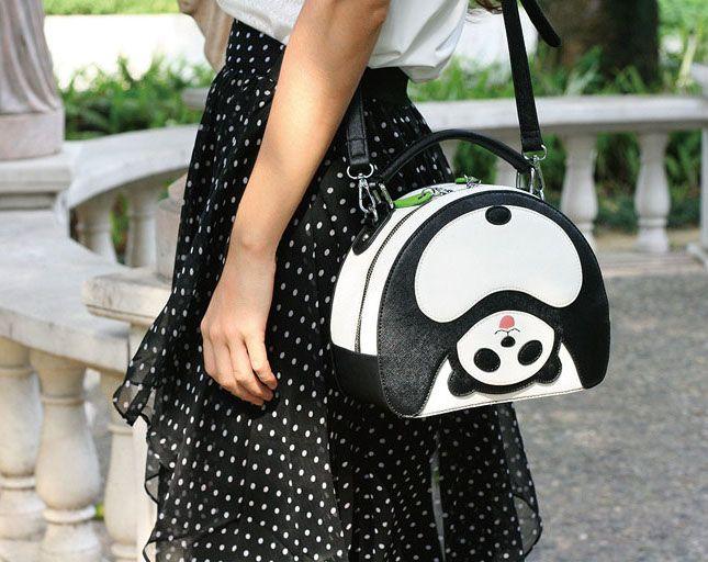 sweet creative panda bag  http://www.dhgate.com/store/product/sweet-panda-bag-lovely-cute-woman-bag-creative/234753736.html