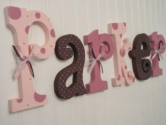 Hanging nursery letters nursery letters por BurnsWithInspiration