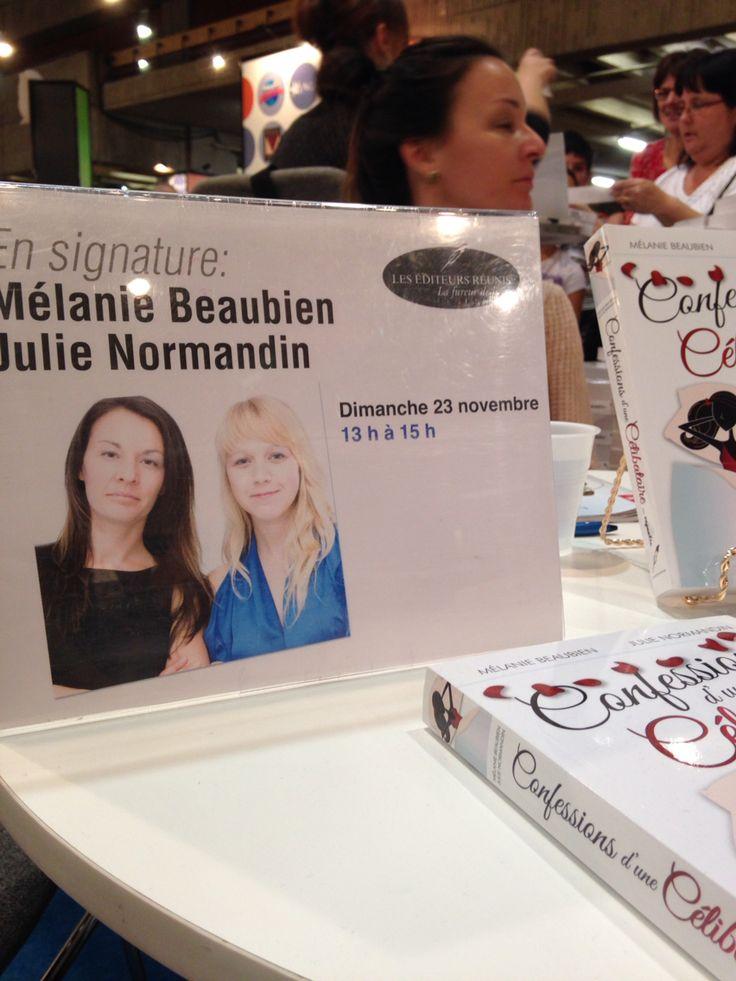 Séance de dédicace au salon du livre de Montréal